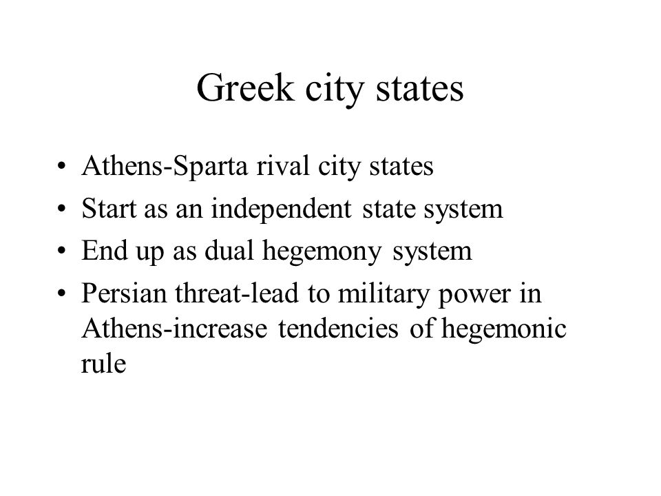 Greek city states Athens-Sparta rival city states