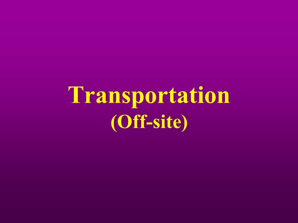 Transportation (Off-site)