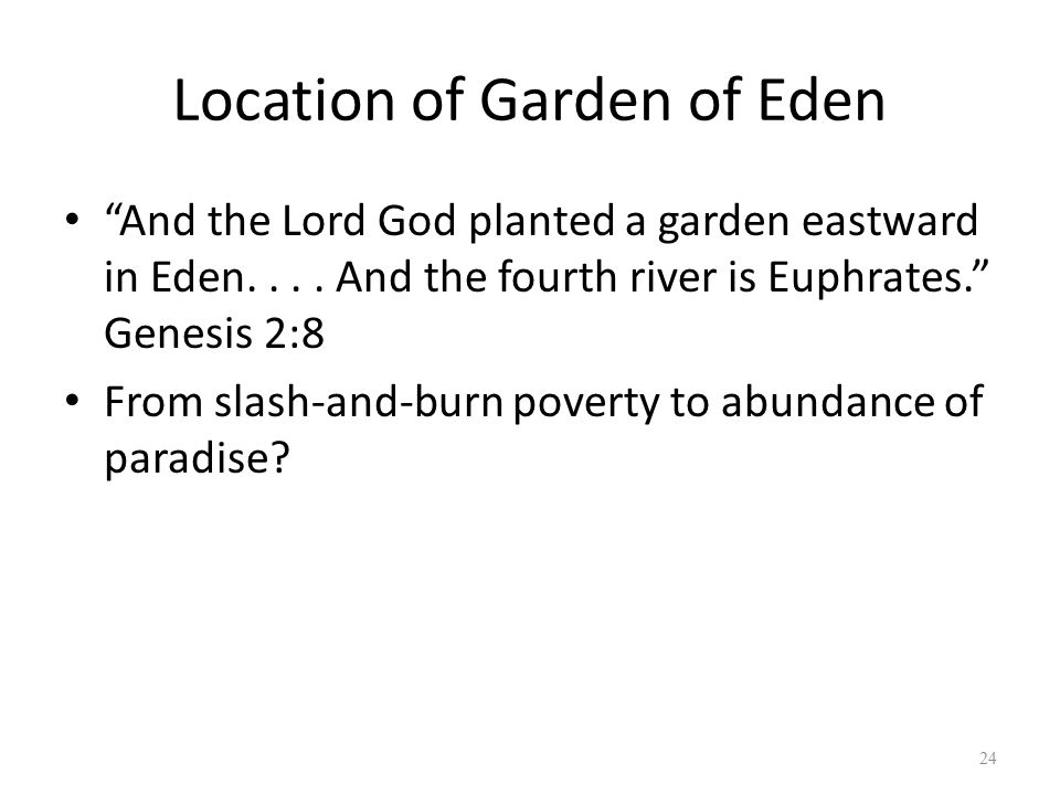 Location of Garden of Eden