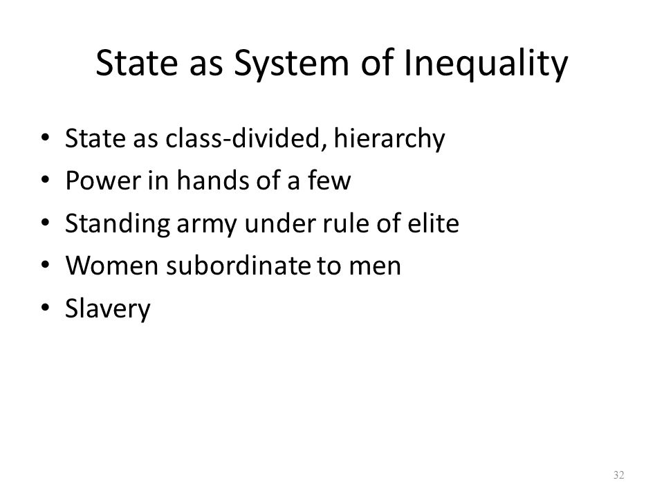 State as System of Inequality