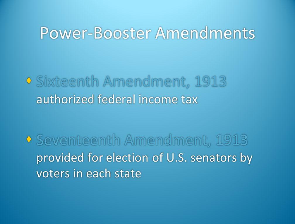Power-Booster Amendments