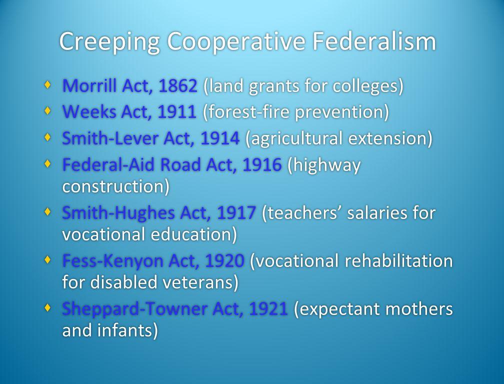 Creeping Cooperative Federalism