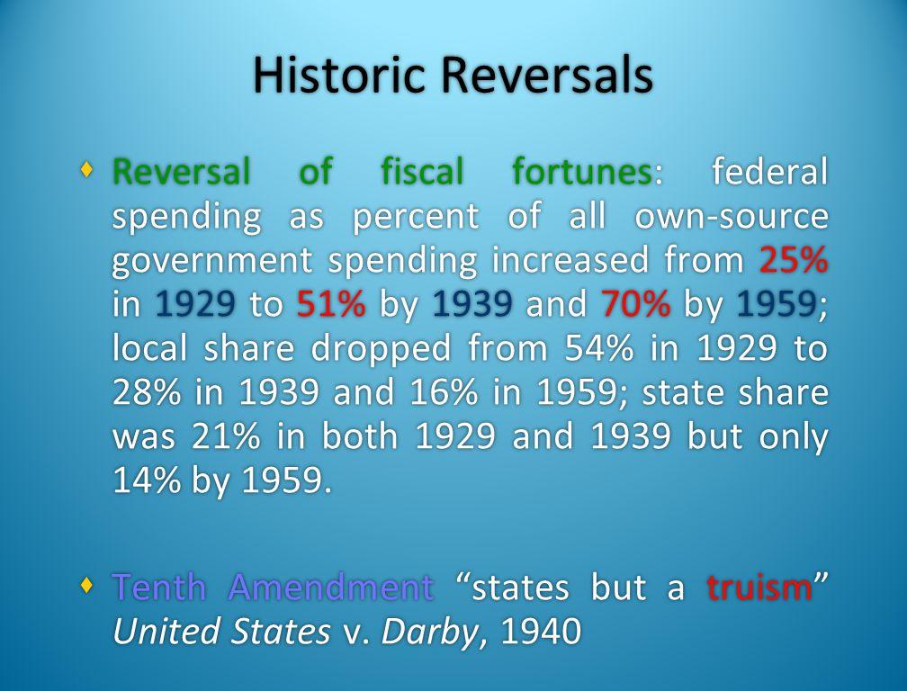 Historic Reversals