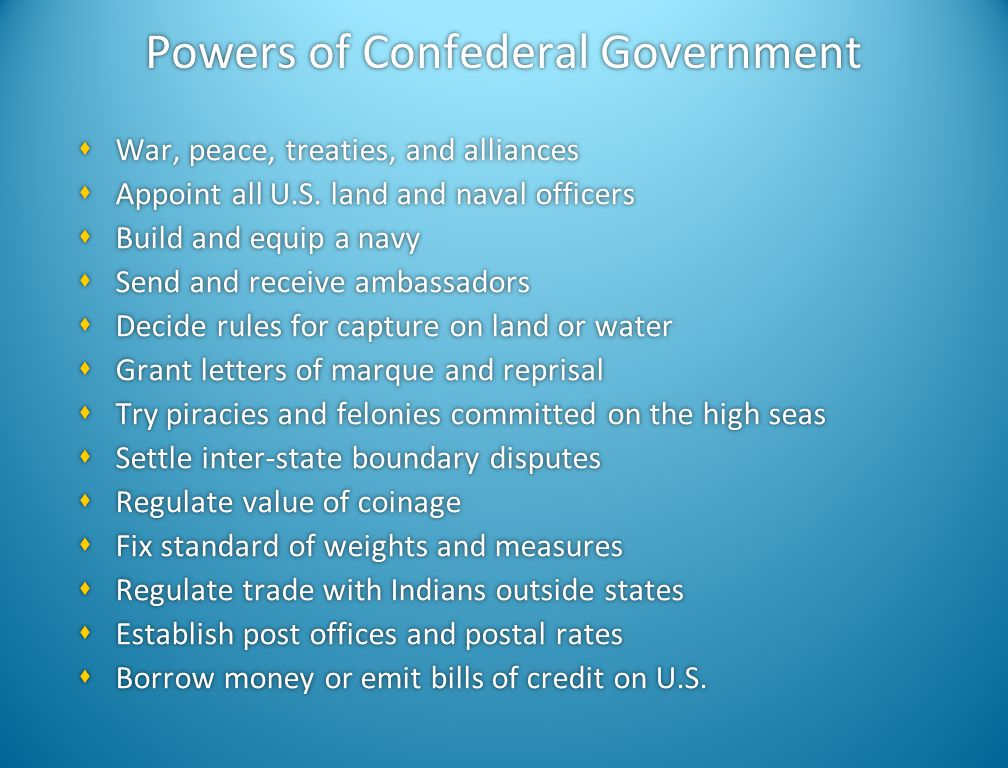 Powers of Confederal Government