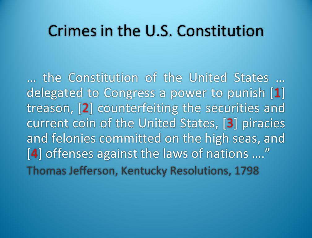 Crimes in the U.S. Constitution