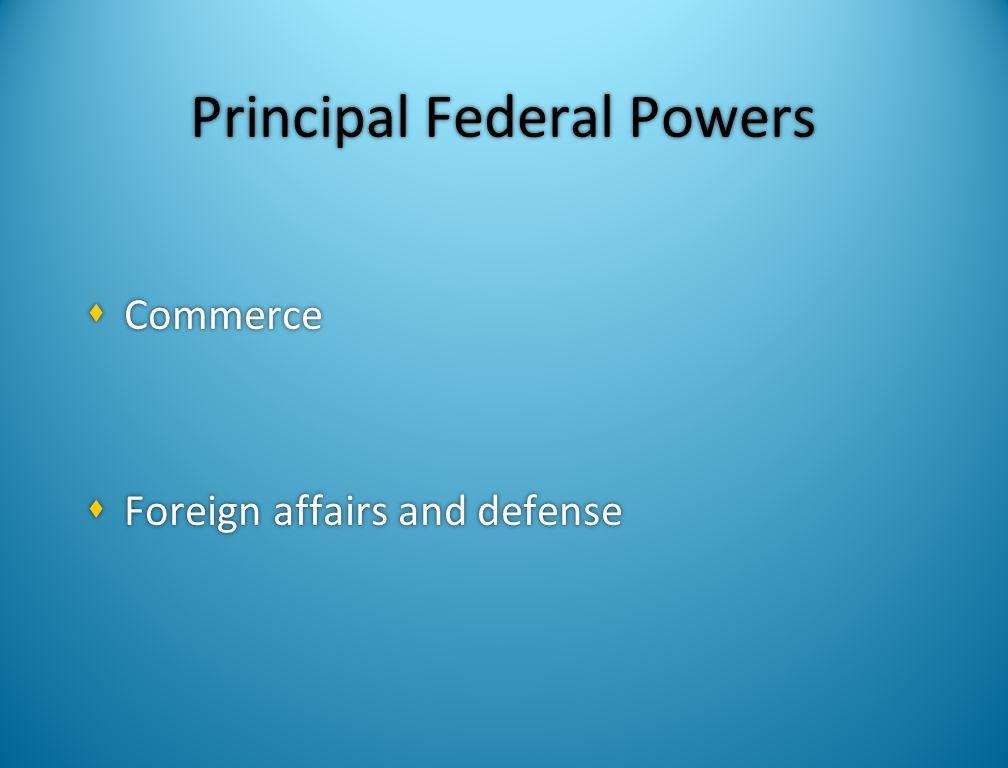 Principal Federal Powers