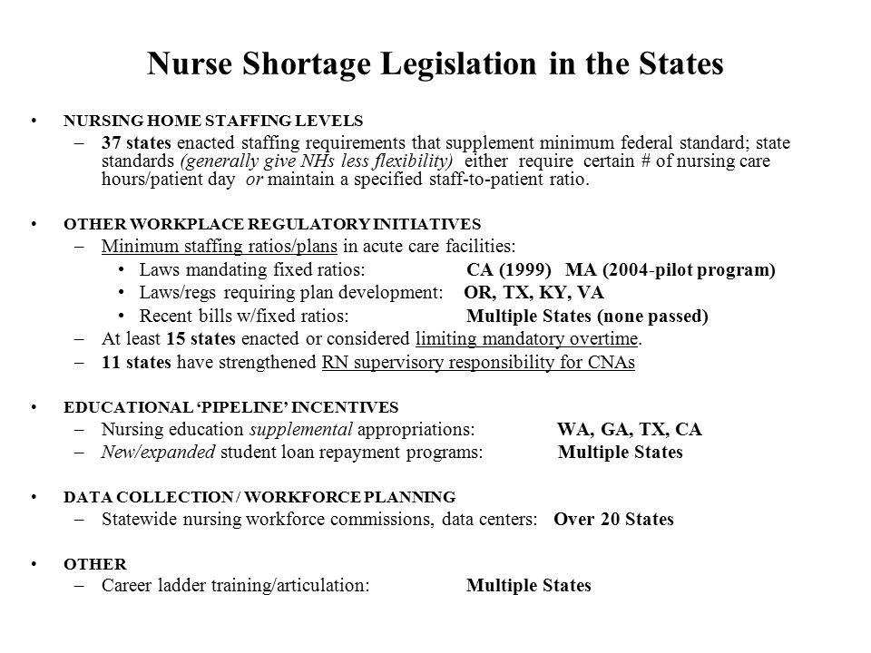 Nurse Shortage Legislation in the States