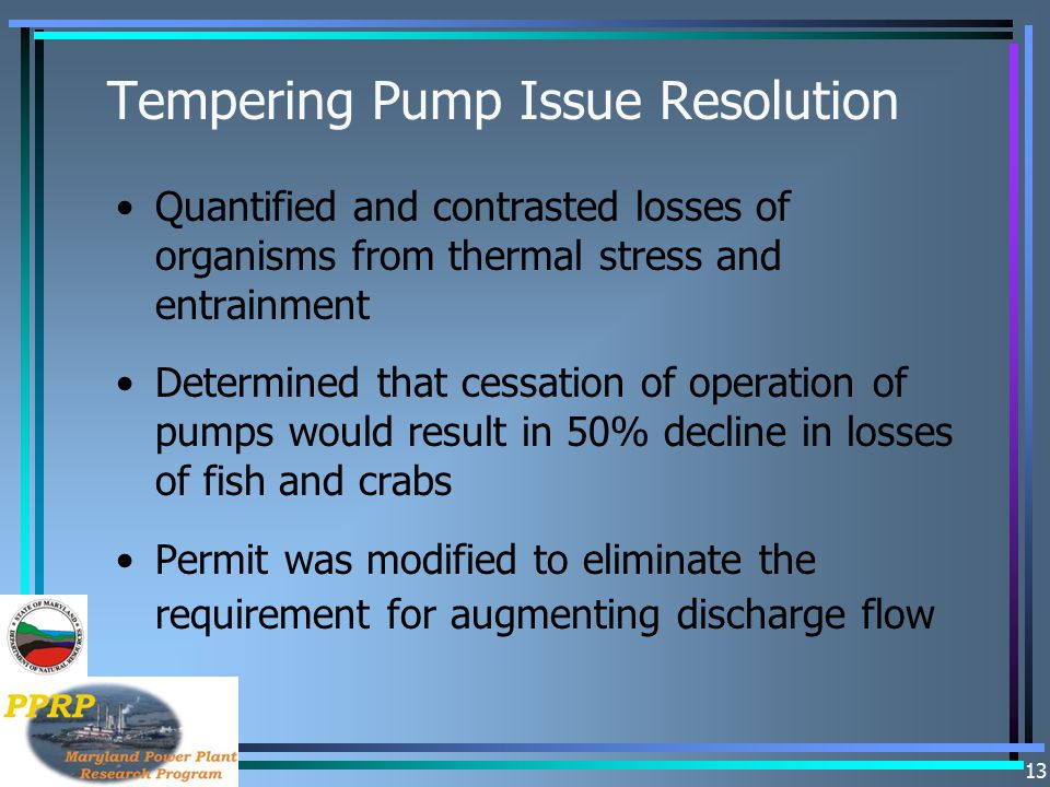 Tempering Pump Issue Resolution