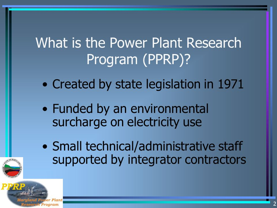 What is the Power Plant Research Program (PPRP)