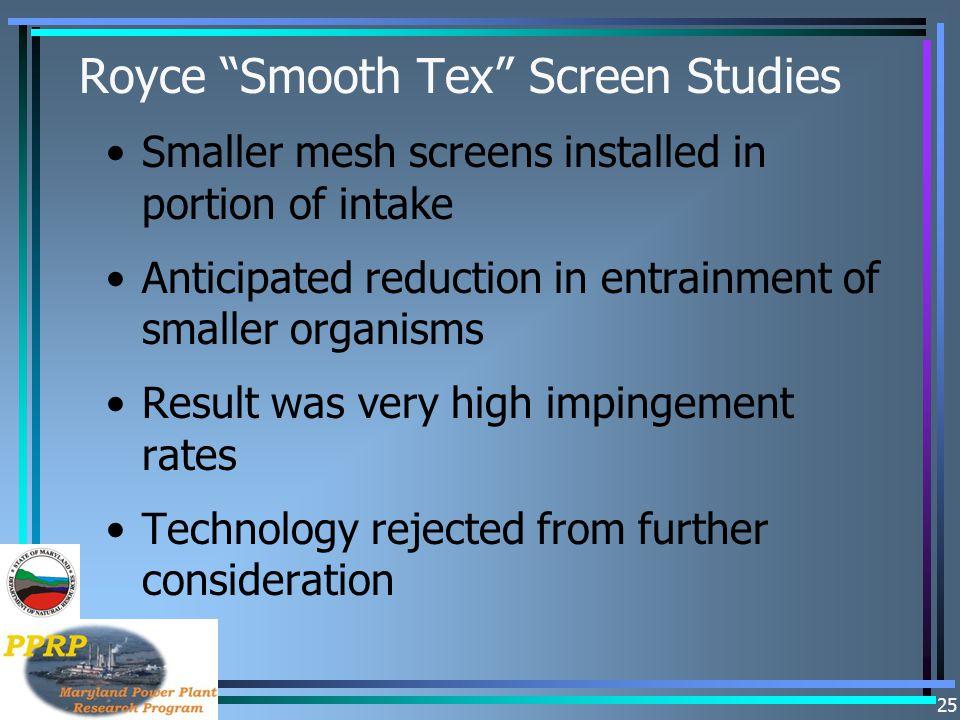 Royce Smooth Tex Screen Studies
