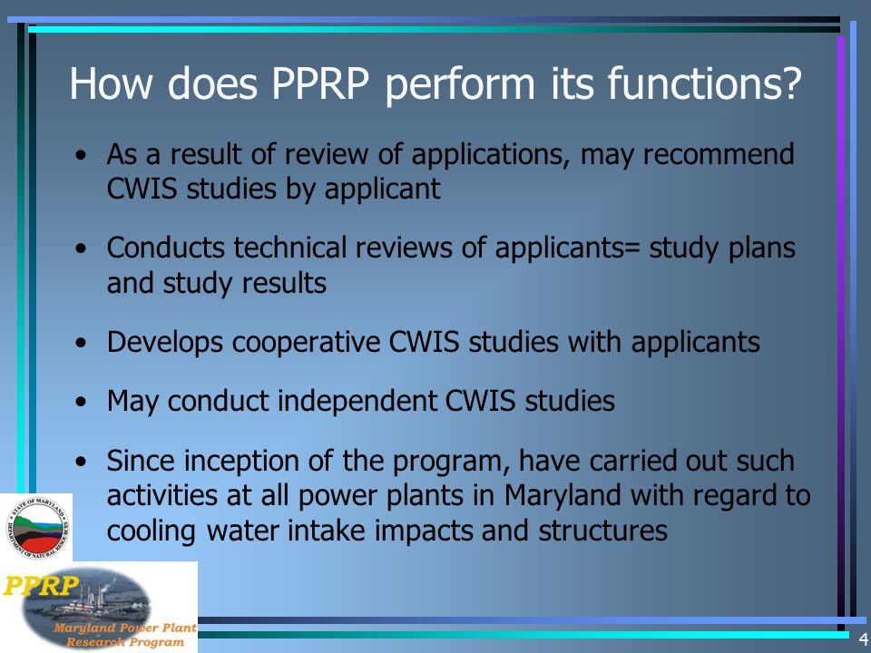 How does PPRP perform its functions
