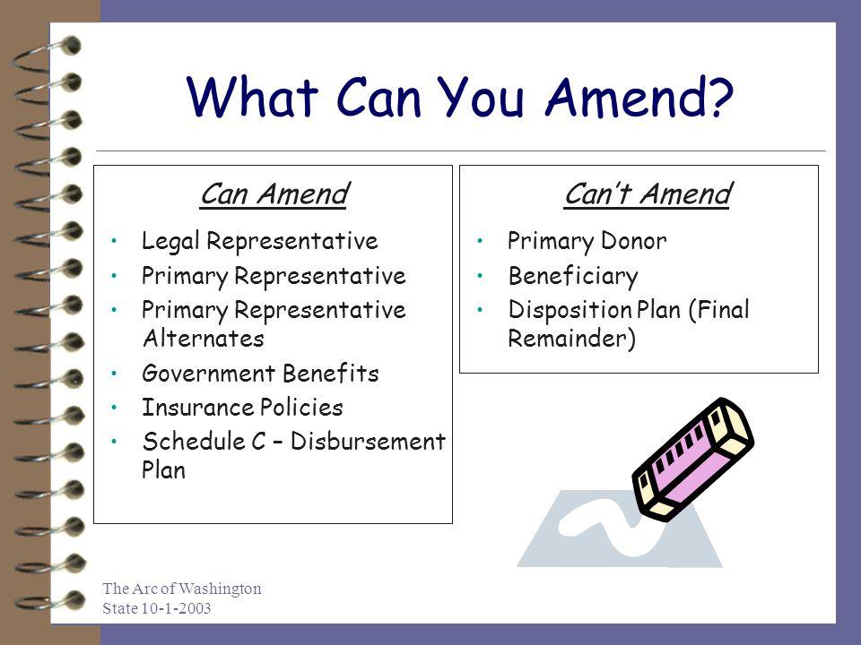 What Can You Amend Can Amend Can't Amend Legal Representative