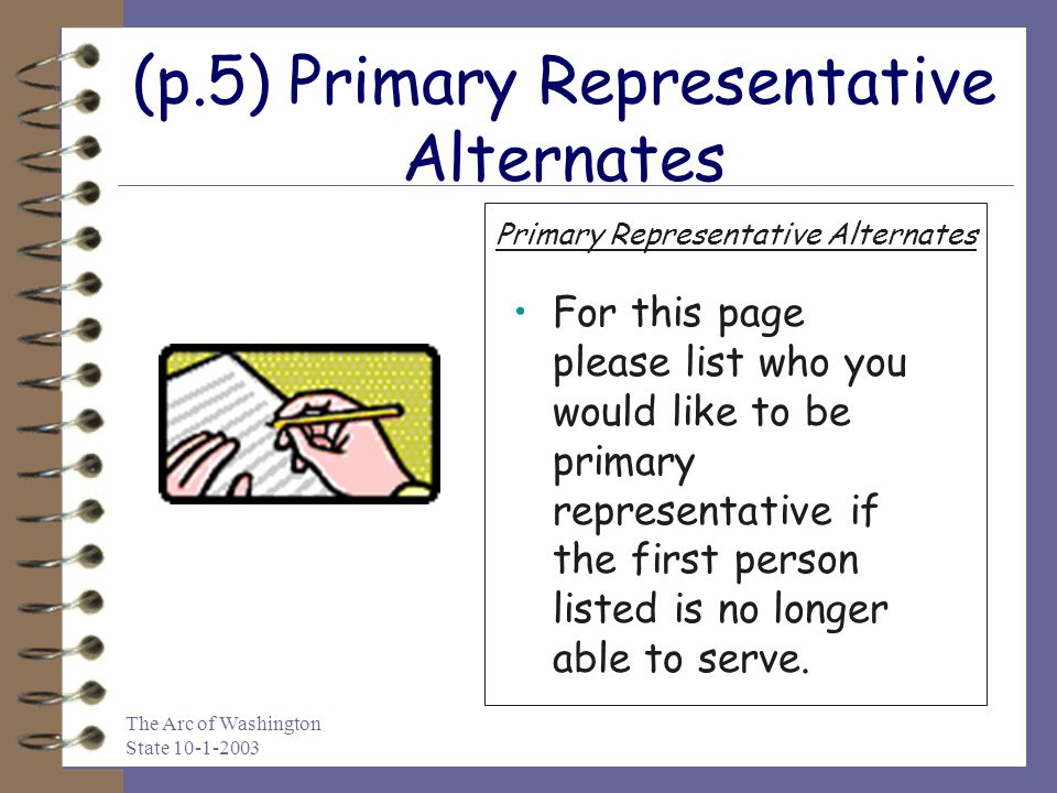 (p.5) Primary Representative Alternates