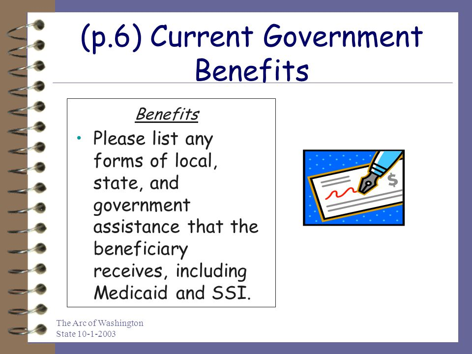 (p.6) Current Government Benefits