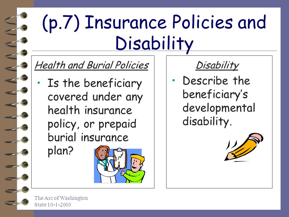 (p.7) Insurance Policies and Disability