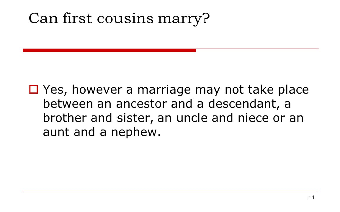 Can first cousins marry