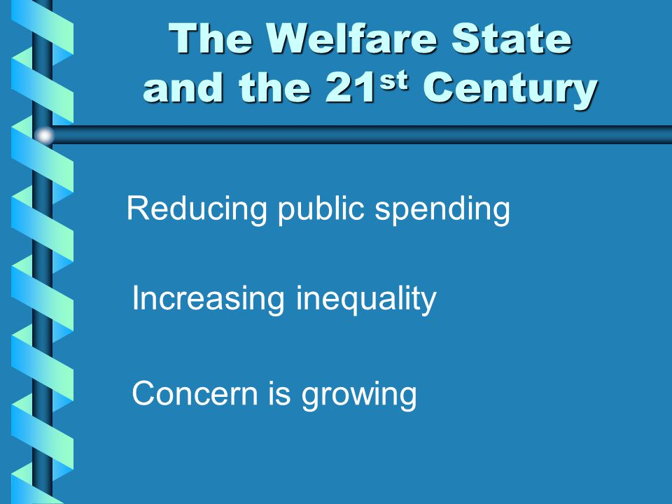 The Welfare State and the 21st Century