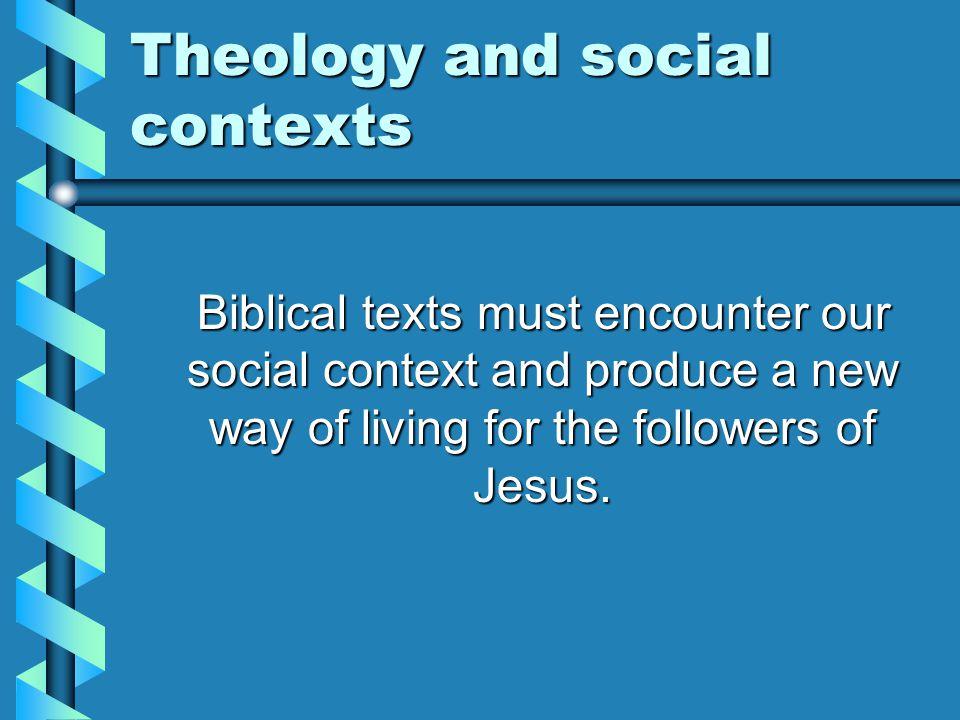 Theology and social contexts