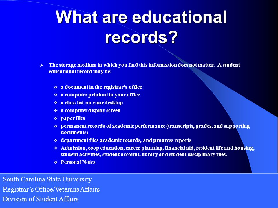 What are educational records