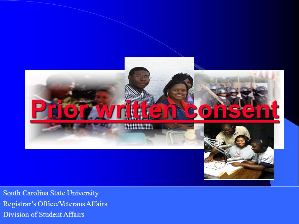 Prior written consent South Carolina State University