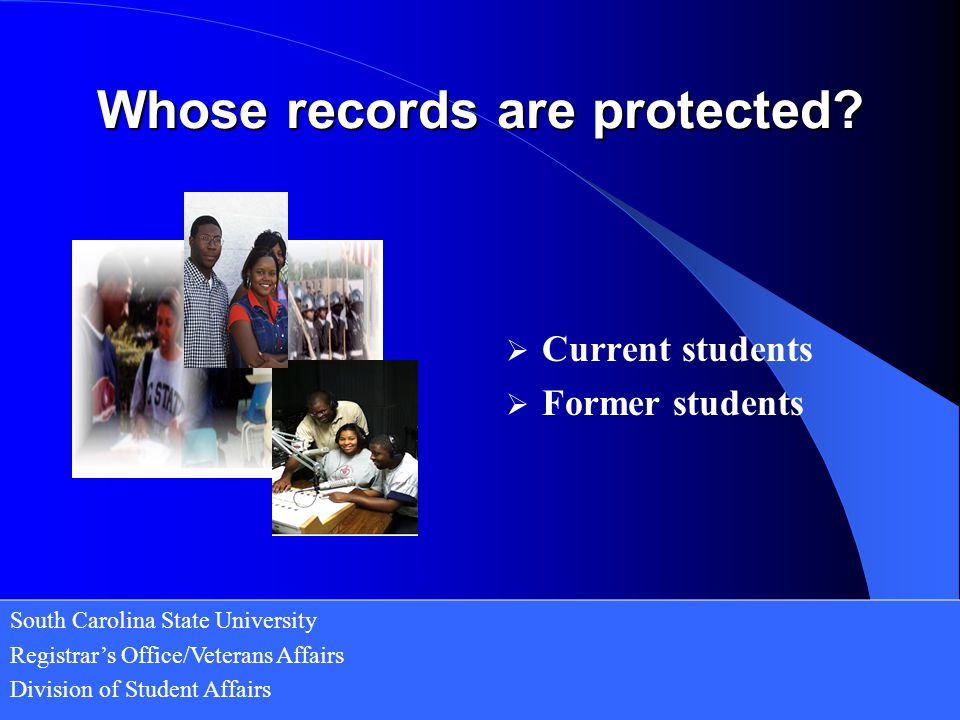 Whose records are protected