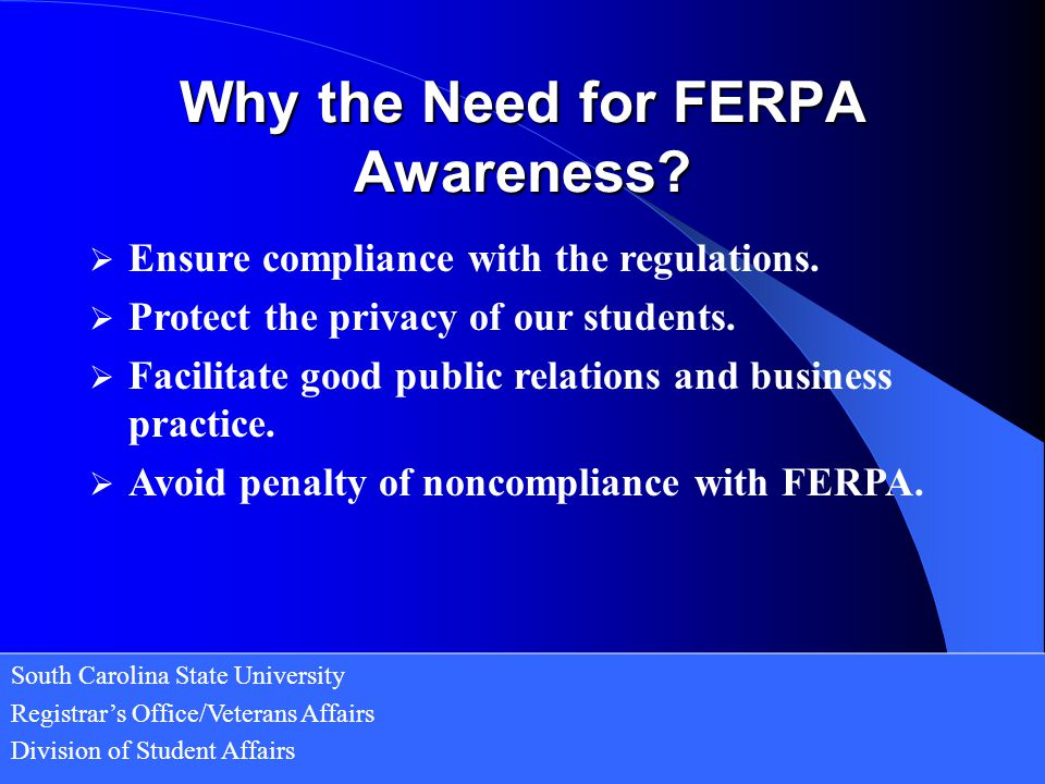 Why the Need for FERPA Awareness