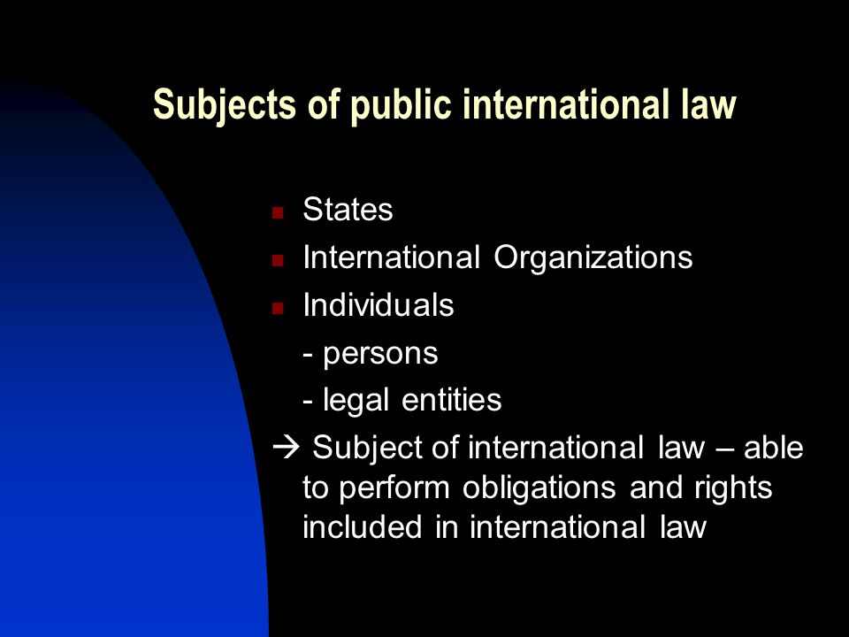 Subjects of public international law