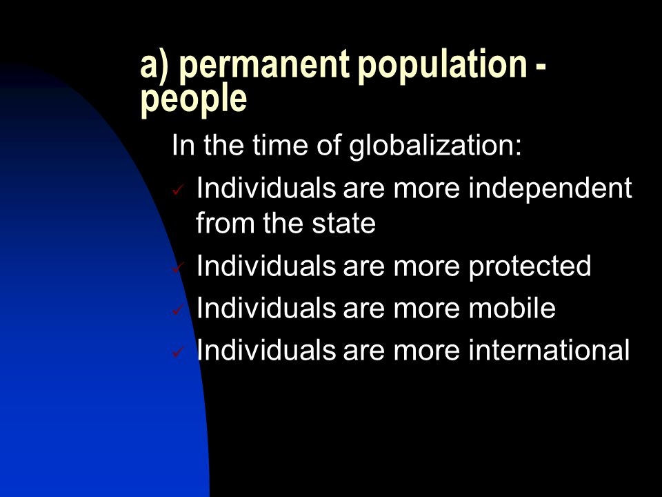 a) permanent population - people