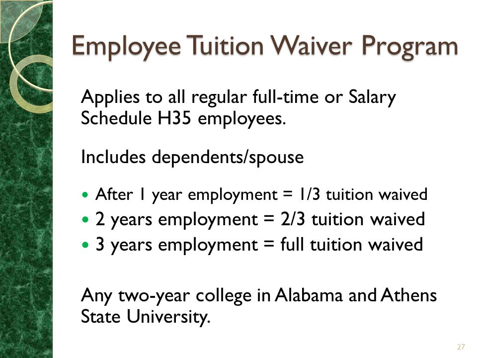 Employee Tuition Waiver Program