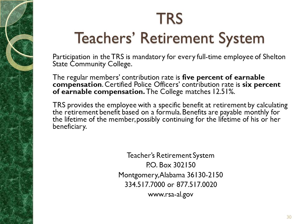 TRS Teachers' Retirement System