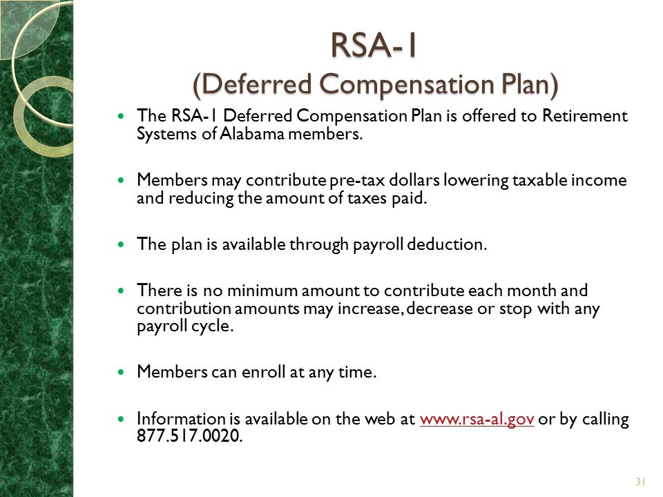 RSA-1 (Deferred Compensation Plan)