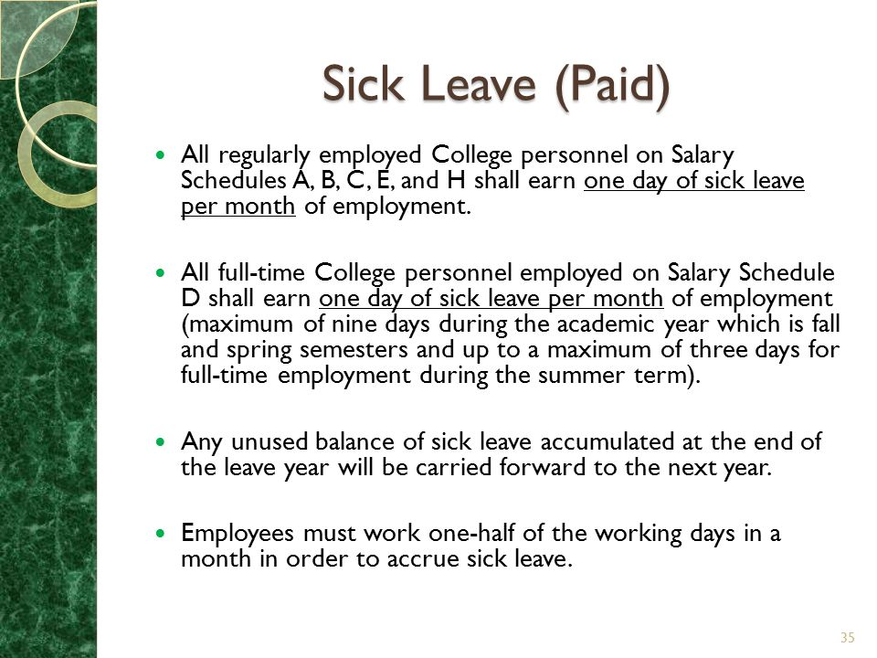 Sick Leave (Paid)