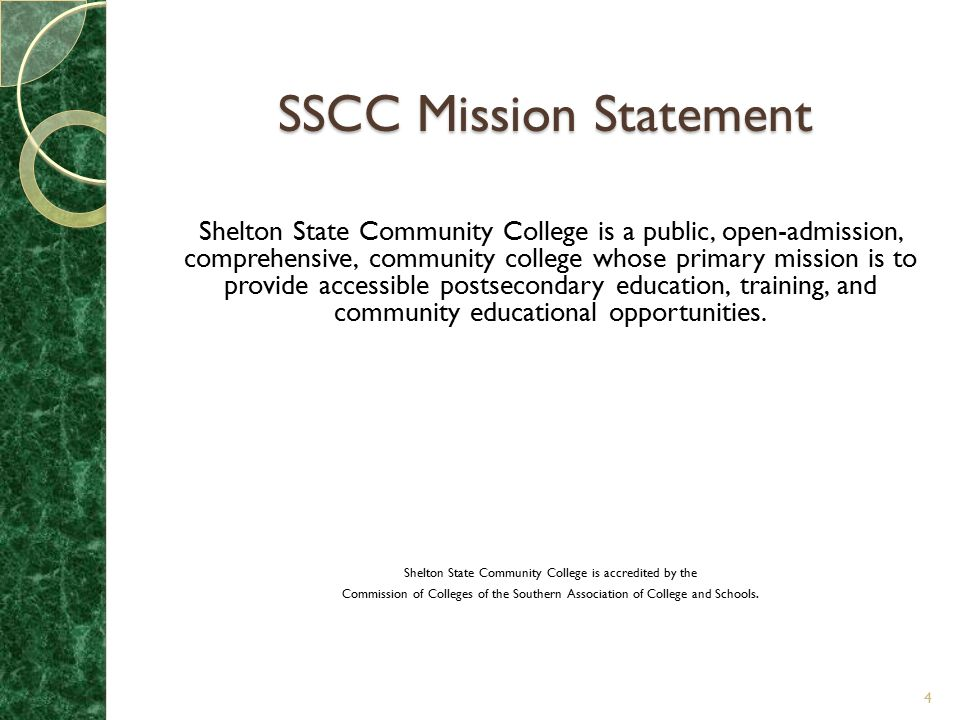 SSCC Mission Statement