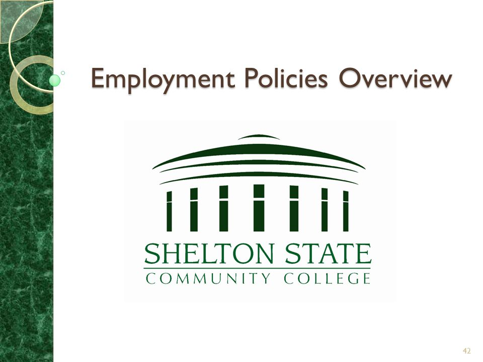 Employment Policies Overview