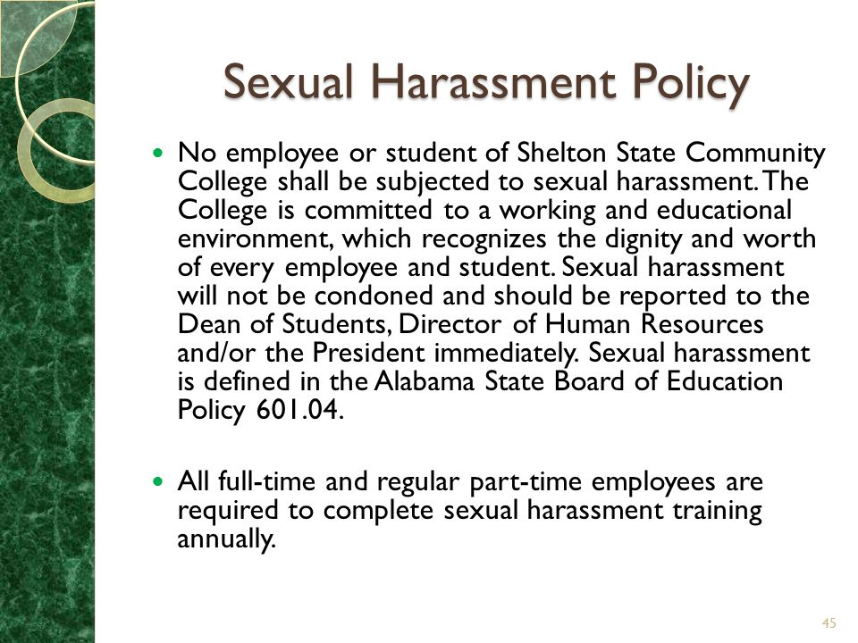 Sexual Harassment Policy