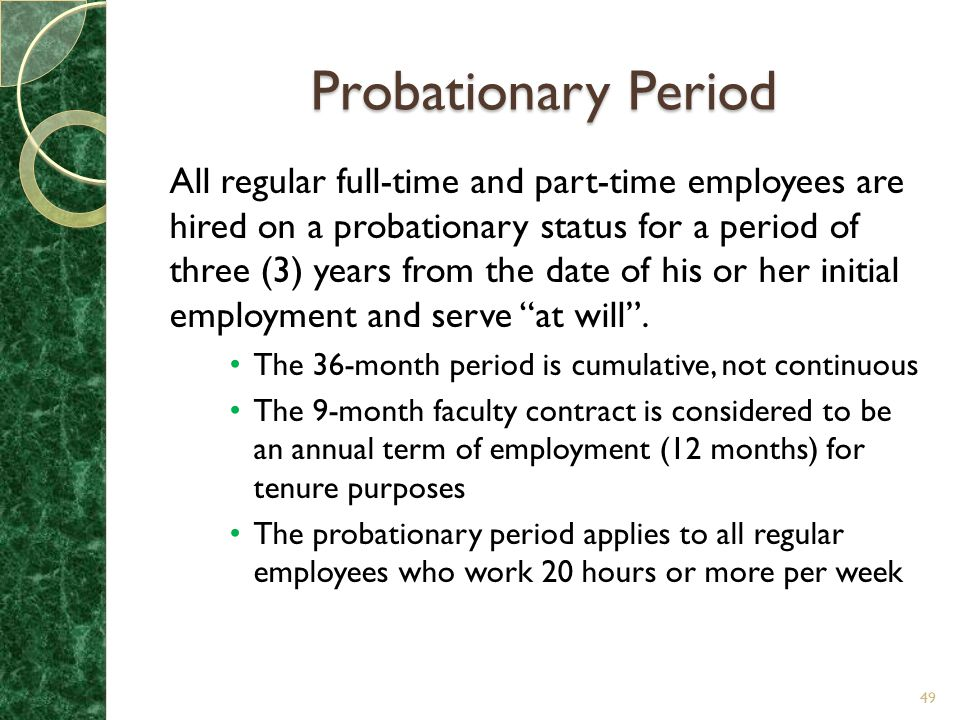 Probationary Period