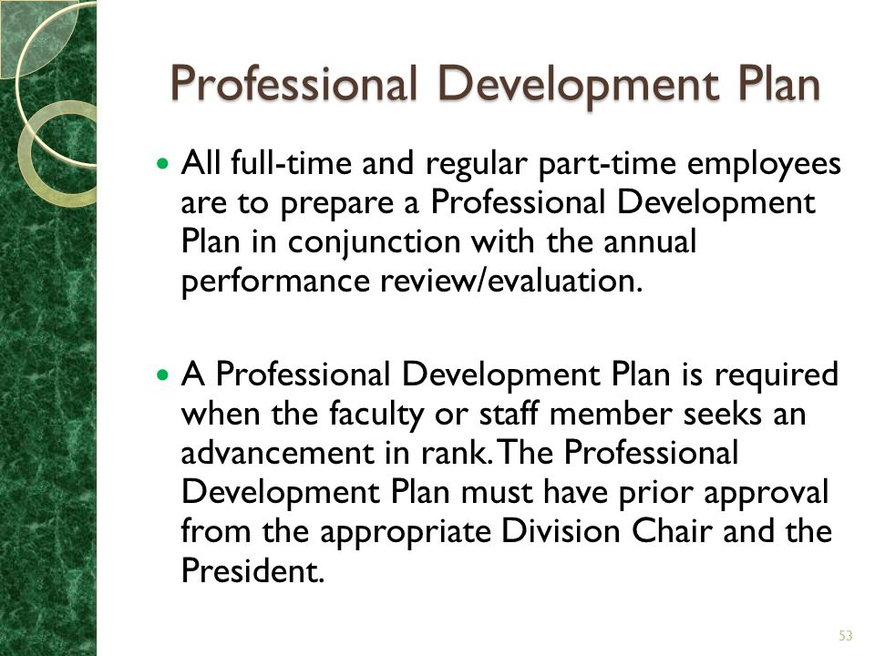 Professional Development Plan