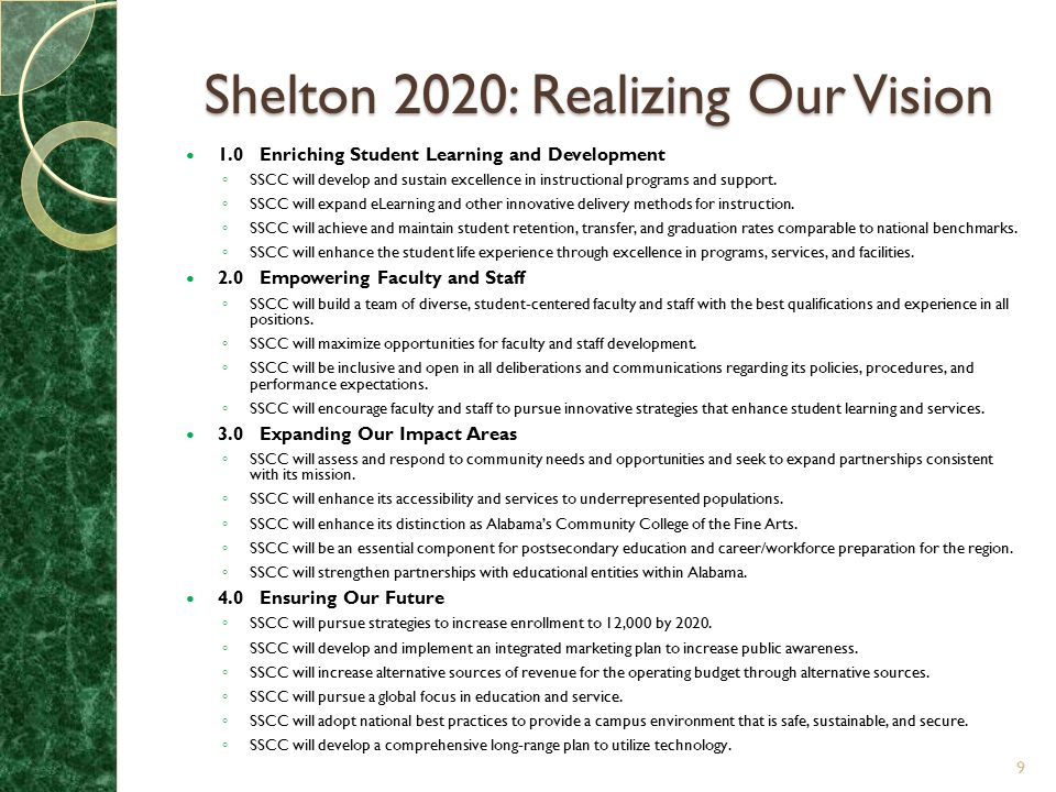 Shelton 2020: Realizing Our Vision