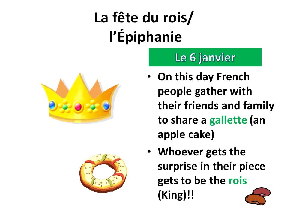 La fête du rois/ l'Épiphanie