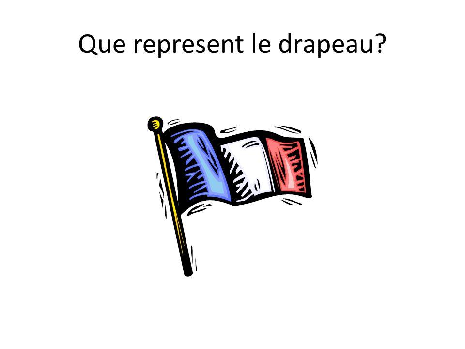 Que represent le drapeau