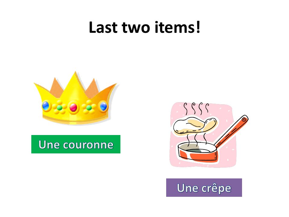 Last two items! Une couronne Une crêpe
