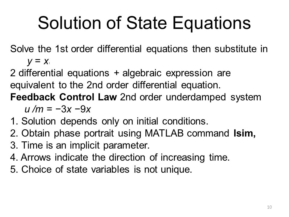 Solution of State Equations