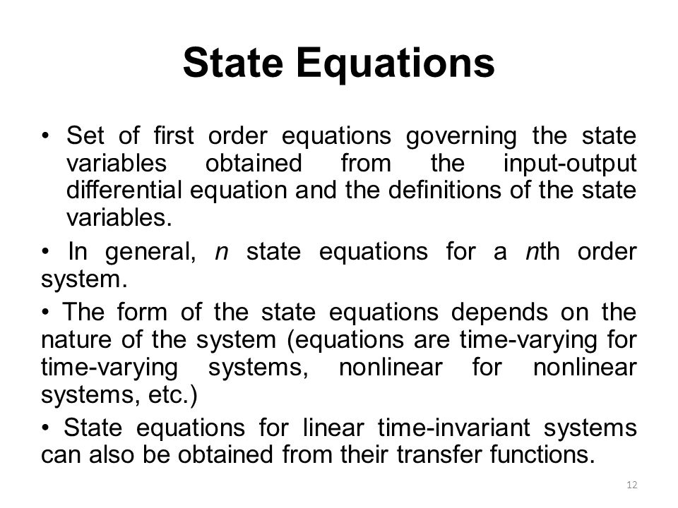 State Equations