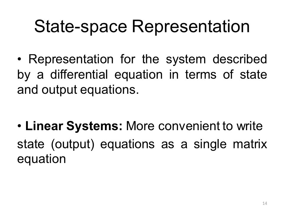 State-space Representation