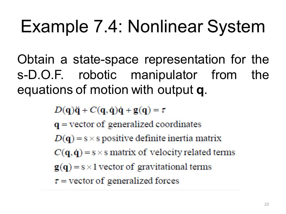 Example 7.4: Nonlinear System