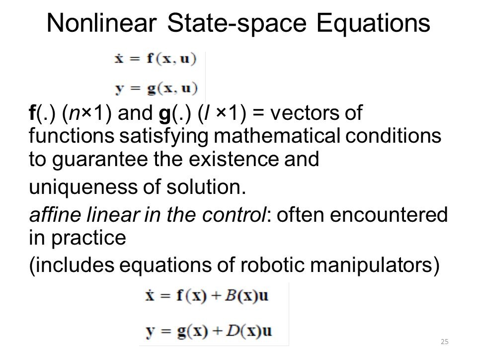 Nonlinear State-space Equations