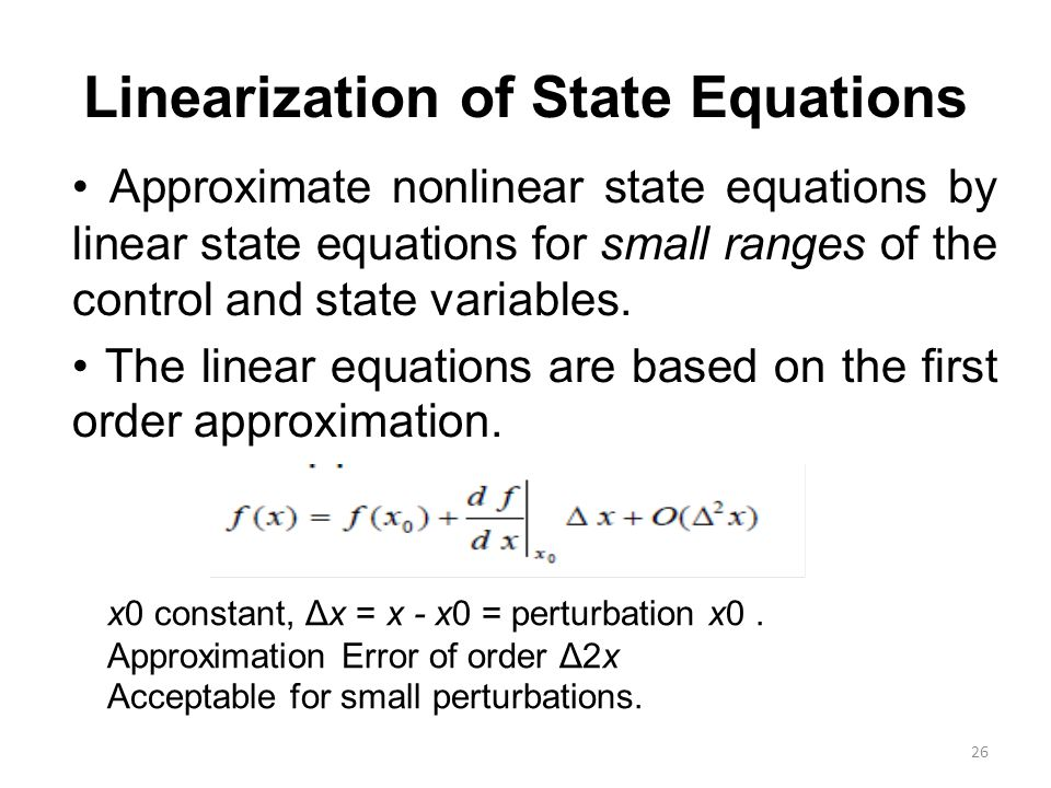 Linearization of State Equations