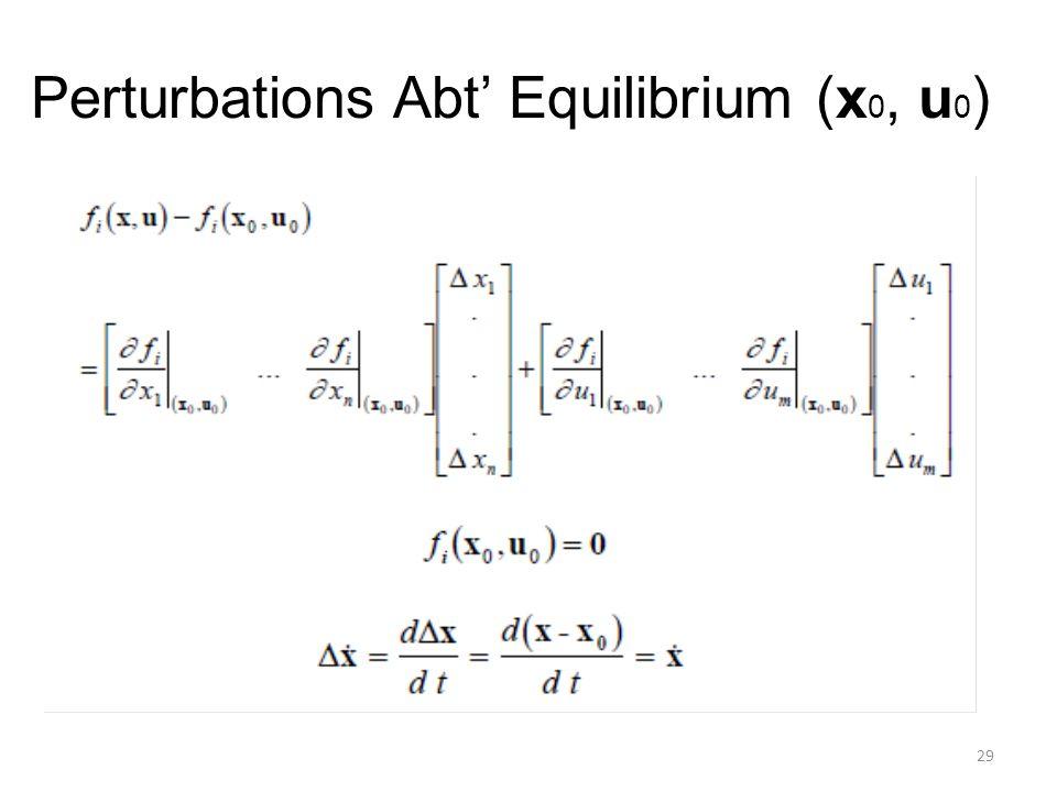 Perturbations Abt' Equilibrium (x0, u0)
