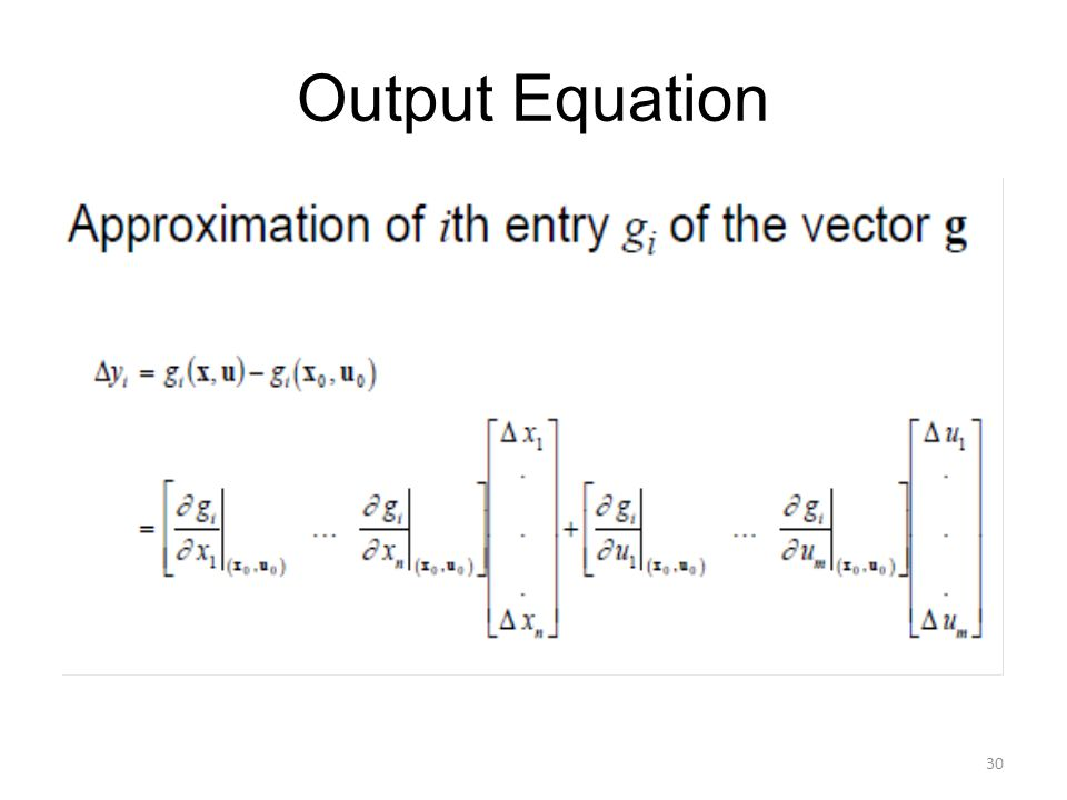 Output Equation
