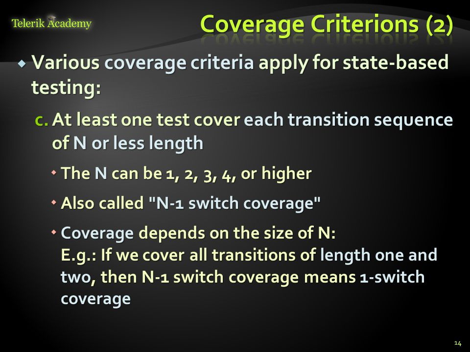 Coverage Criterions (2)